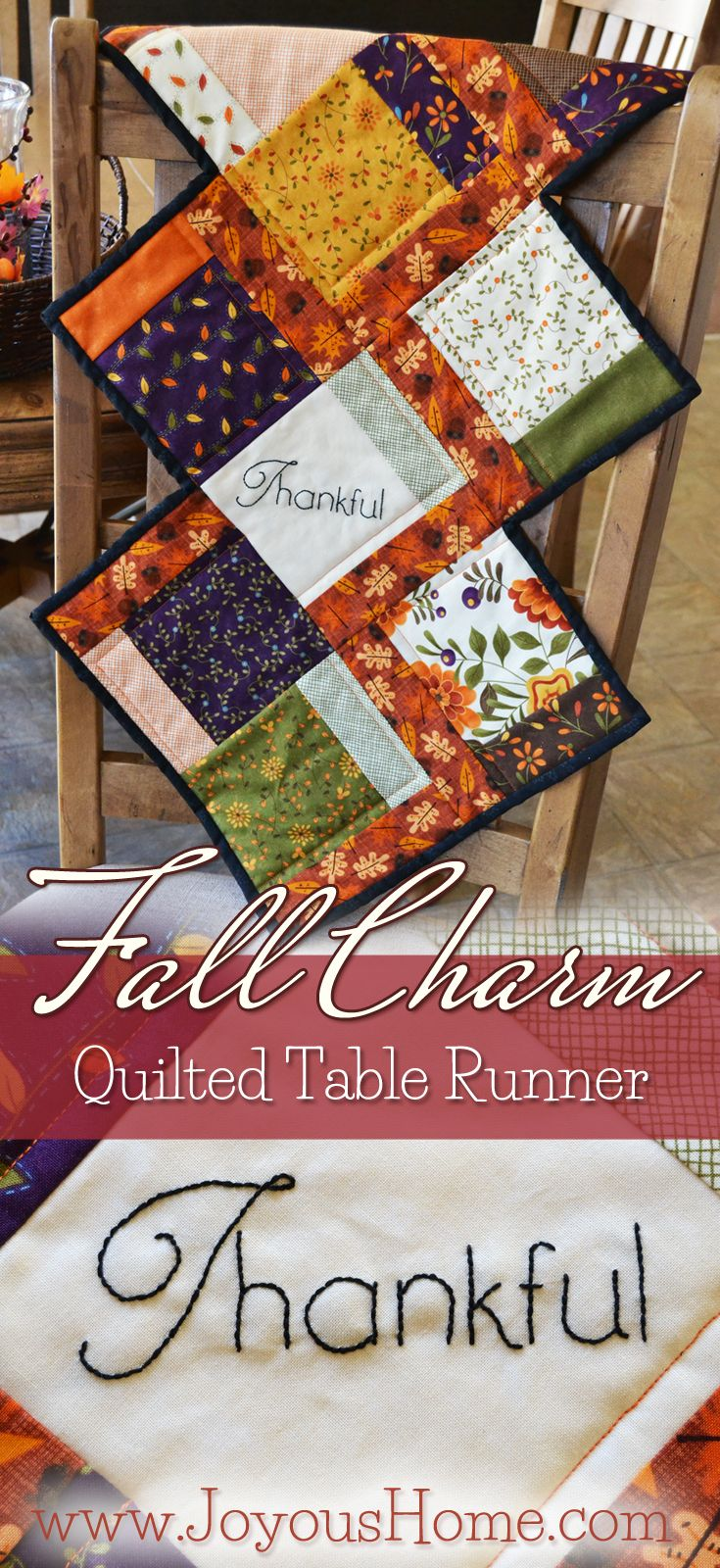 Enjoy a free pattern for my Fall Charm Quilted Table Runner using ... : free thanksgiving quilt patterns - Adamdwight.com