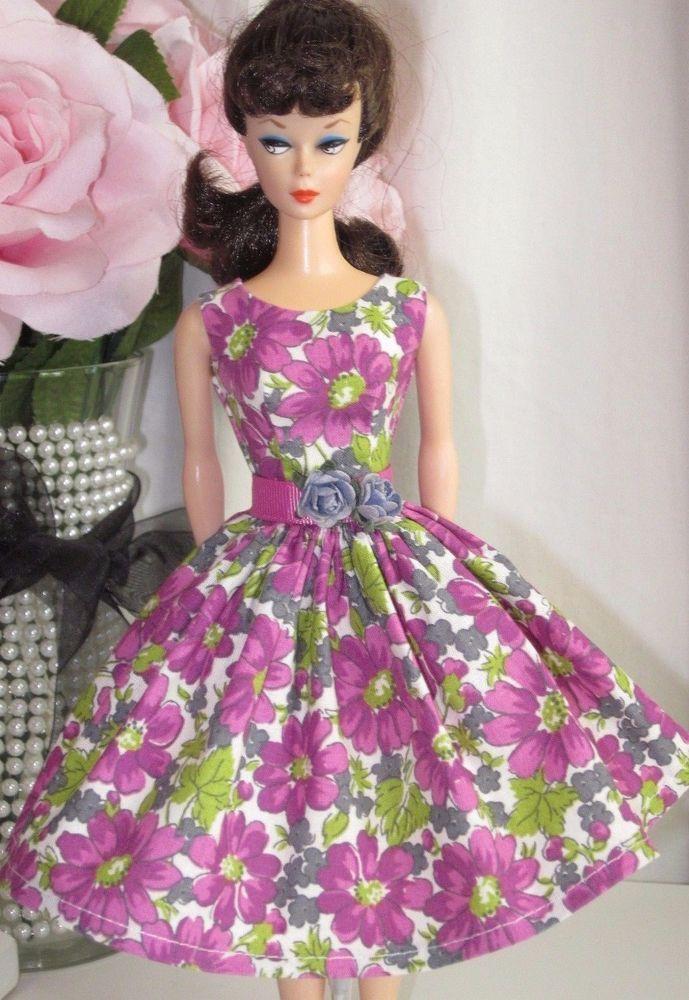 Ooak Vintage Barbie Doll Dress Reproduction Repro Barbie Clothes Vintage Barbie Dress Vintage Barbie Clothes Barbie Clothes