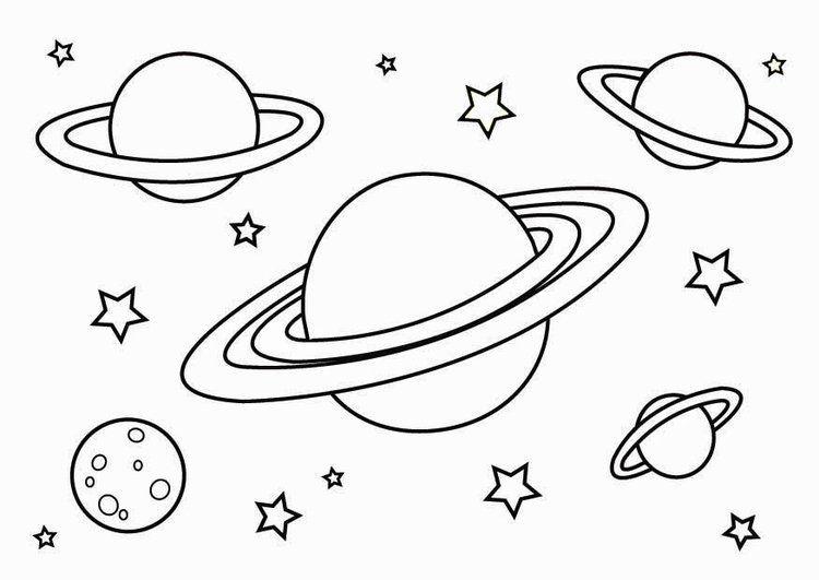 Malvorlage Weltraum