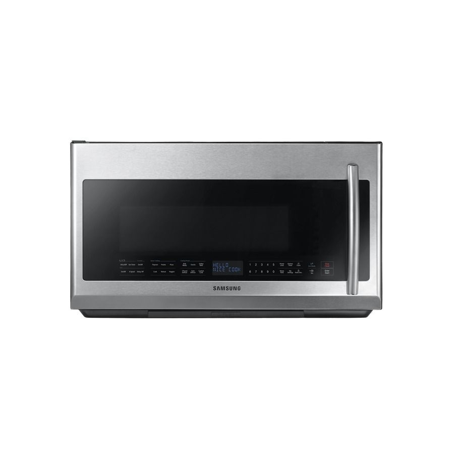 Samsung 2 1 Cu Ft Over The Range Microwave Stainless Steel At Lowes