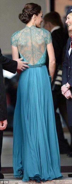 Wedding+Ideas:+Kate-Middleton-Duchess-Cambridge-wears-stunning-teal-dress-guest-honour-Olympic-gala