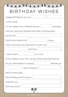 50th Birthday Party Games.Birthday Party Mad Lib By Atpcreativedesign On Etsy 70th