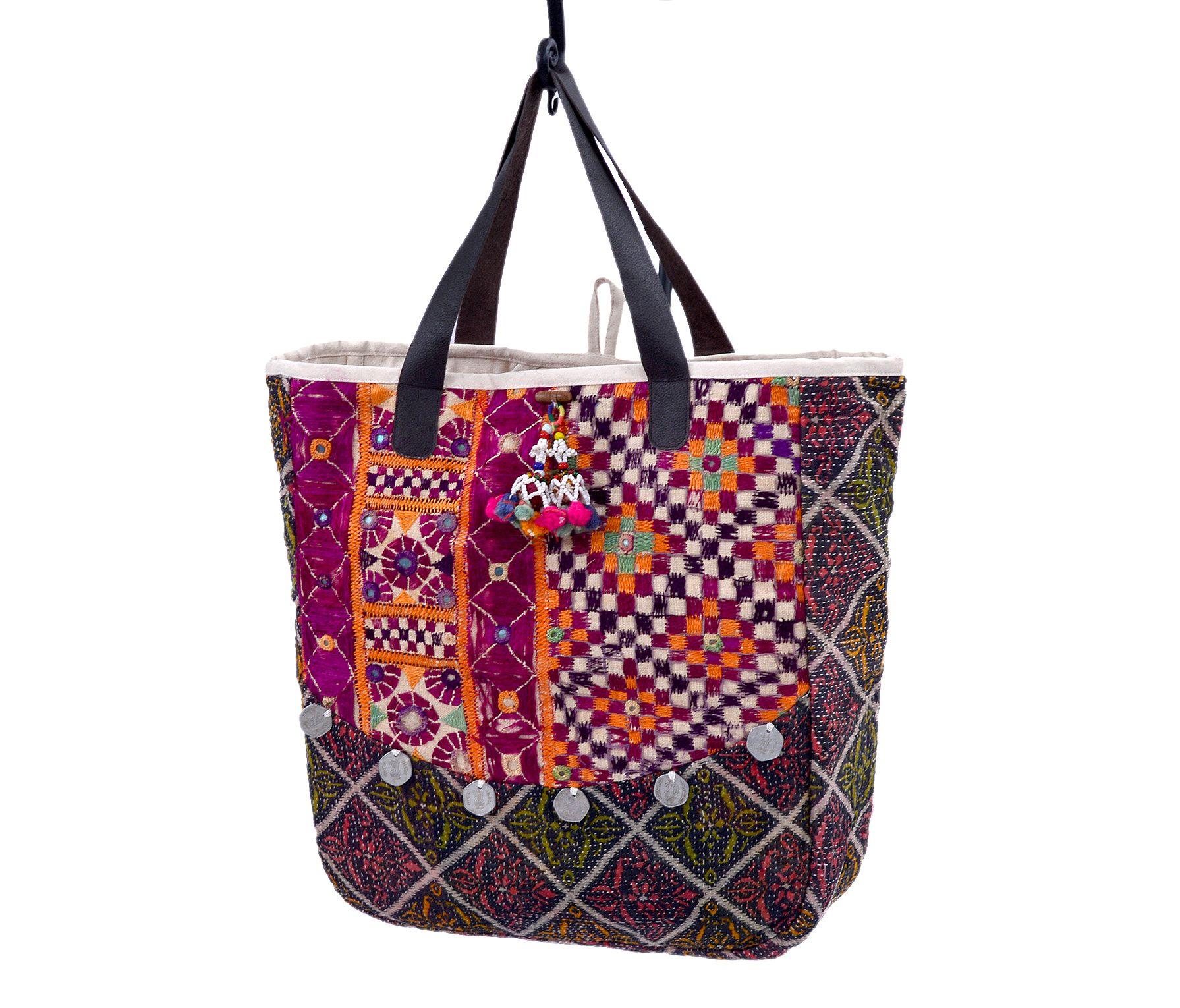 Leather handle banjara bag | Home Furnishings, Furniture, Kilim Rugs, Pillows, Online Shopping, Online Shopping Ottomans @ NaturalFurnish.co...