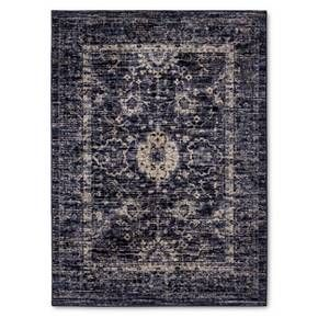 Vintage Distressed Area Rug Indigo 5 X7 Threshold