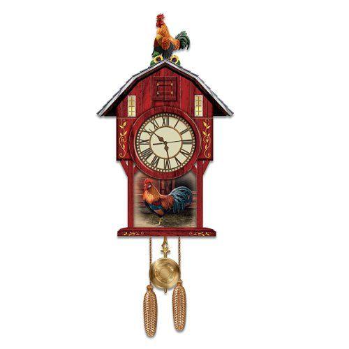Barnyard Strut Rooster Art Cuckoo Clock By The Bradford Exchange Bradford Exchange Http Www Amazon Com Dp B009ym8bwy Ref Cm Cuckoo Clock Vintage Clock Clock