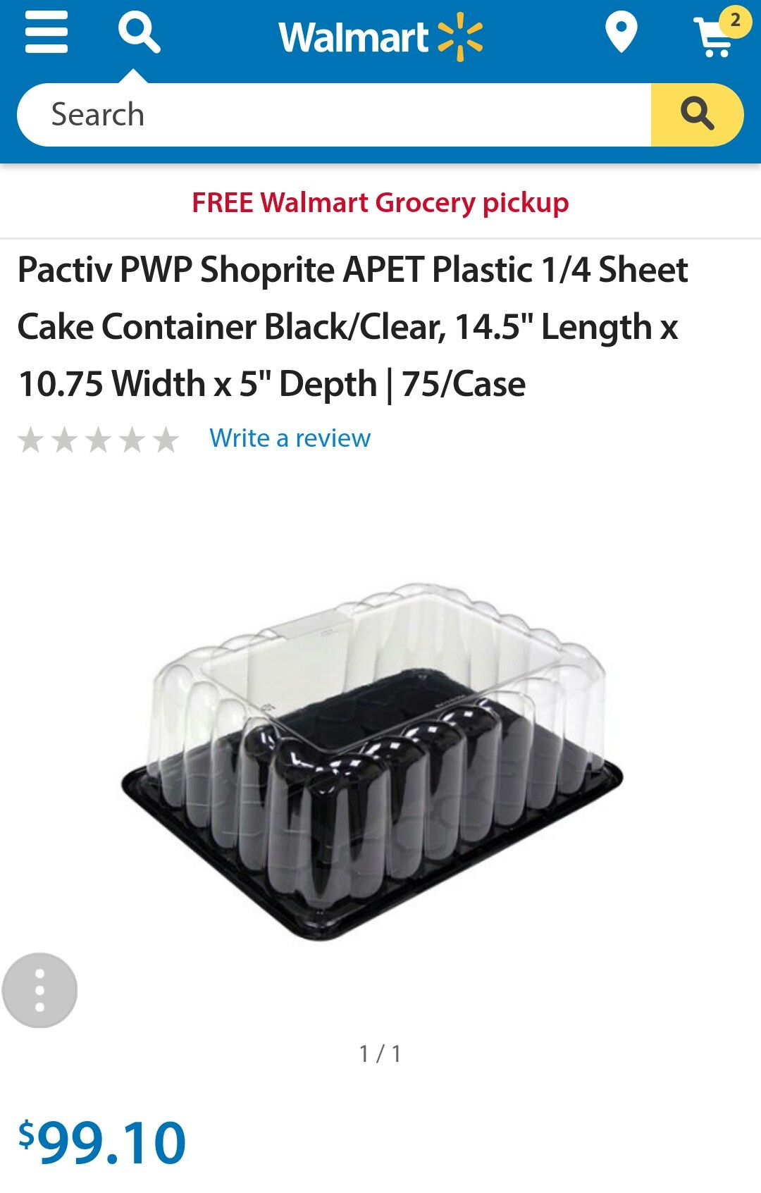 Pactiv Pwp Shoprite Apet Plastic 1 4 Sheet Cake Container Black Clear 14 5 Length X 10 75 Width X 5 Depth 75 Case Sheet Cake Shoprite 10 Things