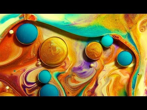 Abstract Mix Of Paint Oil Milk Soap By Thomas Blanchard