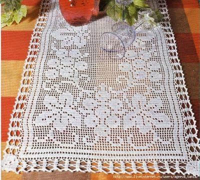Crochet: table runner