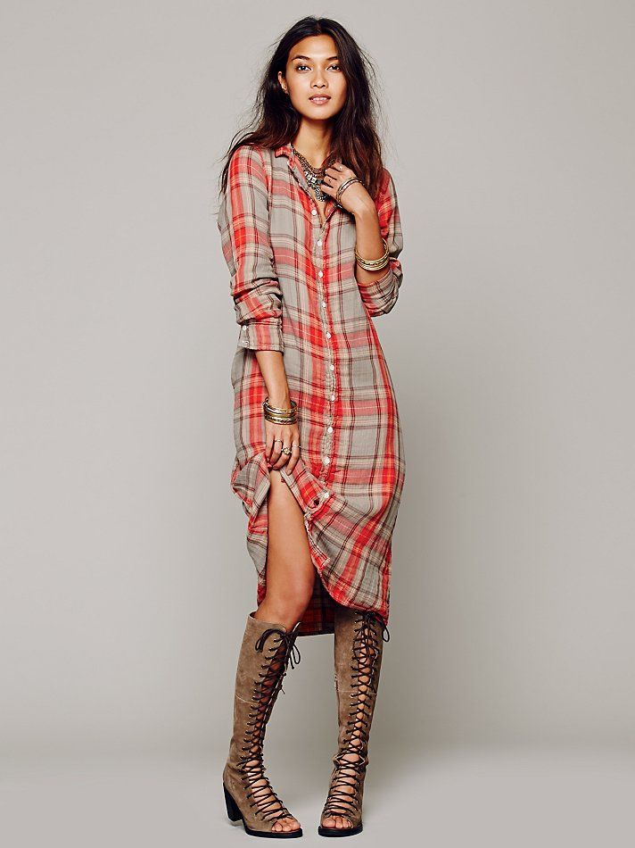 Cp Shades Plaid Maxi At Free People Clothing Boutique