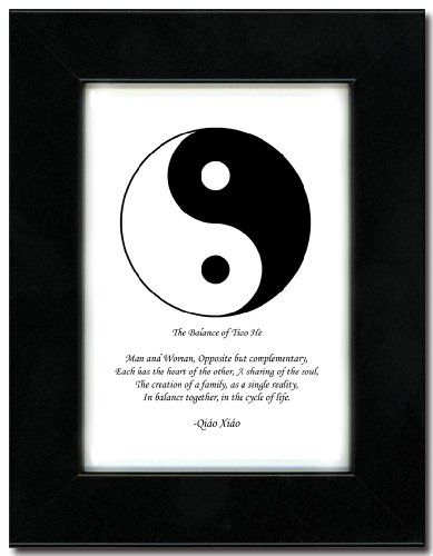 5x7 Black Satin Frame with Yin Yang (Black/White) for only $31.95 You save: $8.00 (20%)