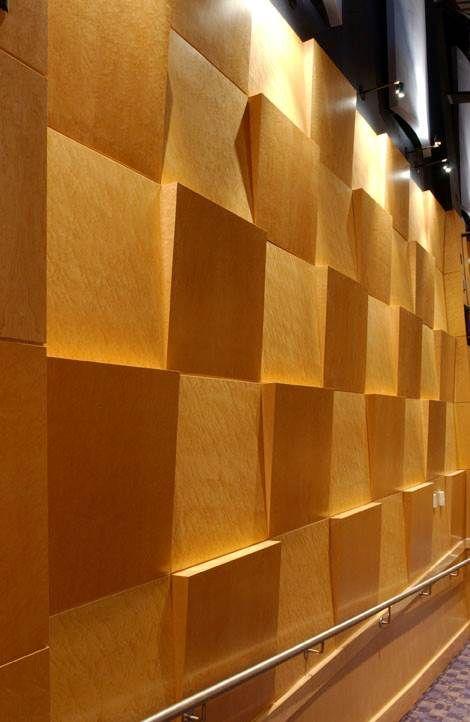 Arbor Wood Veneer Wallcovering By Koroseal Used In A Performing