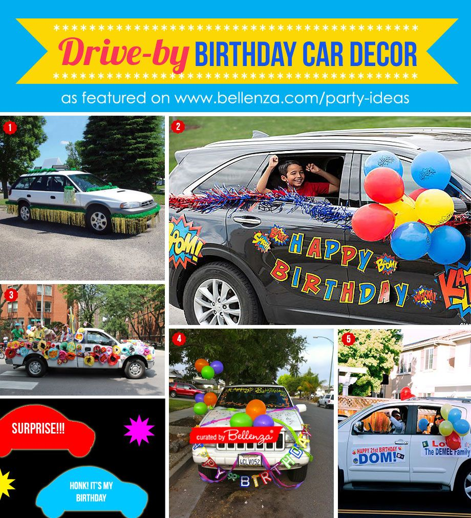 Creative Driveby Birthday Parade Decorations for Your Car