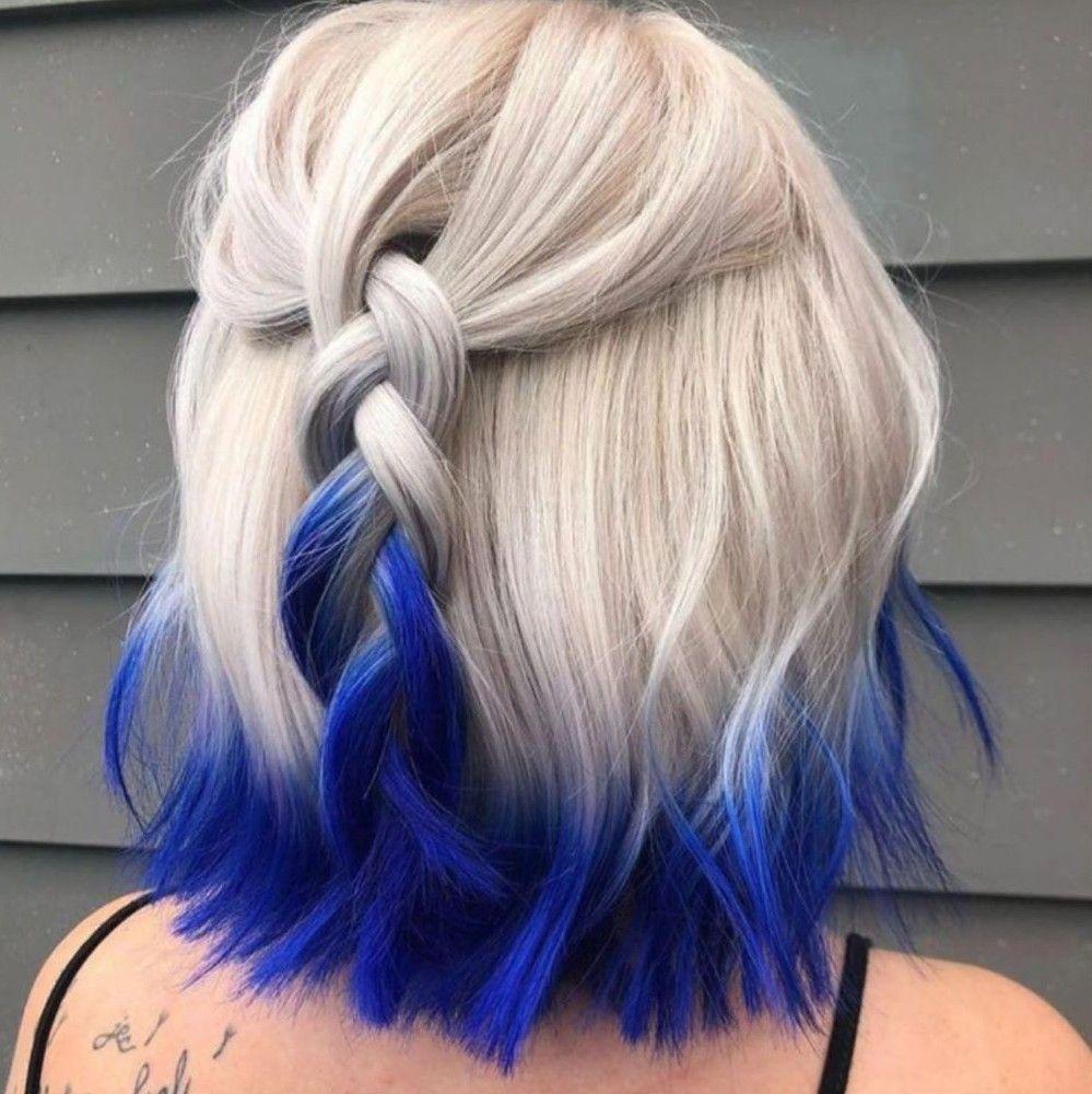 Dip Dye Hair In 2020 Blonde Hair Tips Dip Dye Hair Dip Dye Hair Blonde