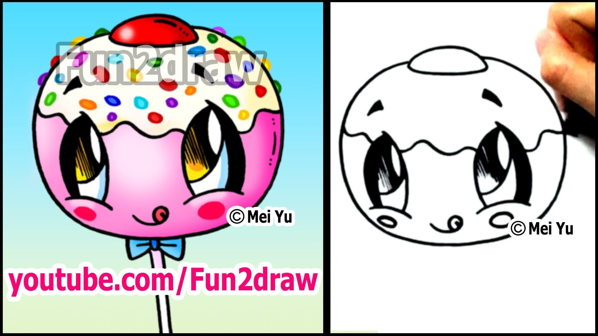 Draw this super cute cake pop and eat it can you for Fun things to draw