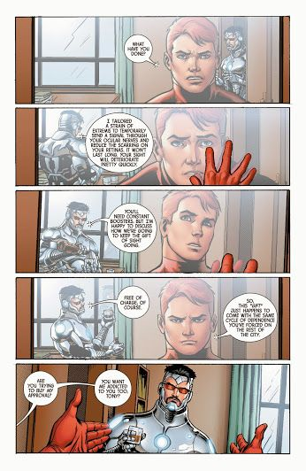 Tony Stark And Matthew Murdock The Superior Iron Man Superior Iron Man Iron Man 3 Iron Man