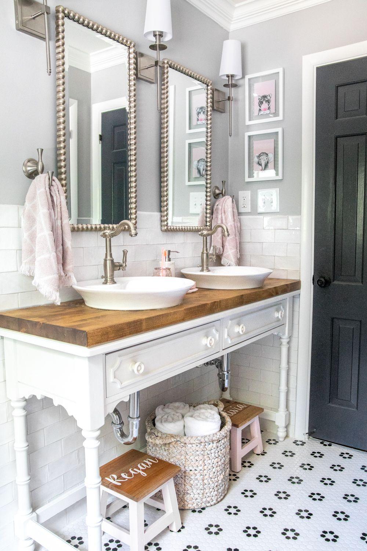 Kids Bathroom Makeover Reveal Girl bathroom decor