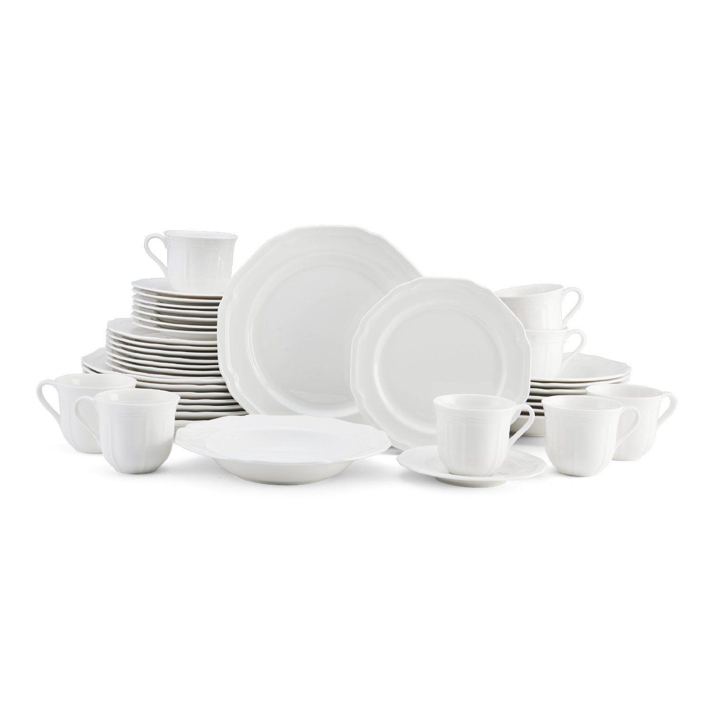 Amazon.com: Mikasa Antique White 40 Piece Dinnerware Set, Service For 8
