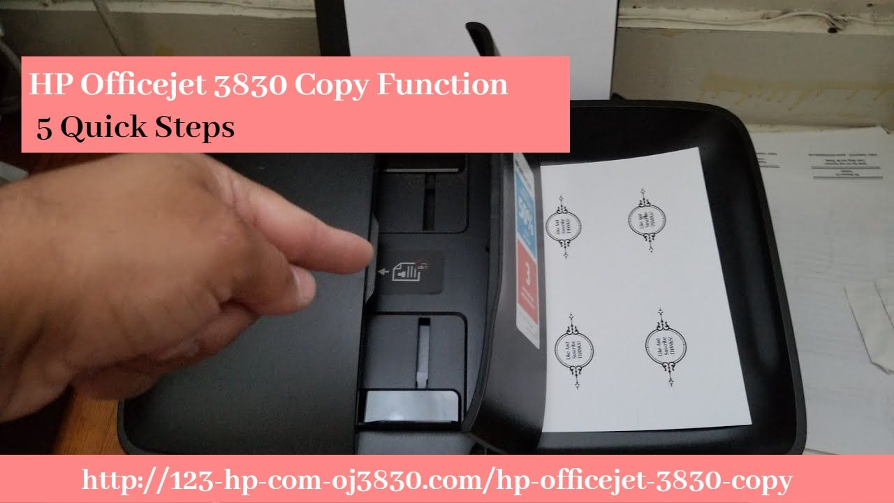 Hp Officejet 3830 Copy Function 5 Quick Steps Hp Officejet Hp Printer Paper Size