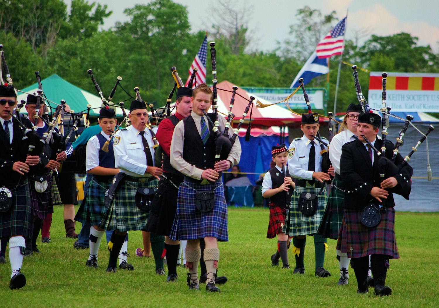 Bagpipes at Grandfather Mountain Highland Games in the
