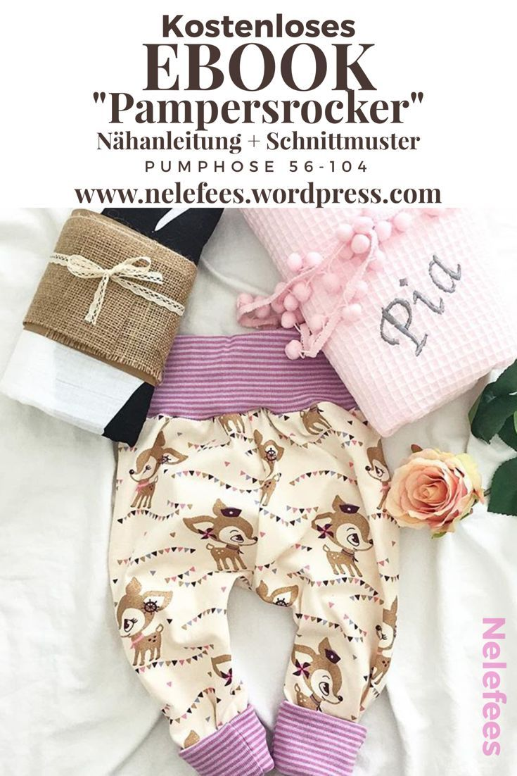 """Freebie """"Pampersrocker"""" patron de couture gratuit bébé Bloomers – Instructions de couture bricolage – – Nelefees – Le blog de la famille   – DIY Baby und Kids"""
