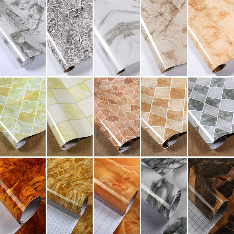 Thickened Marble Pattern Refurbished Stickers Paste Pvc Self Adhesive Wallpaper Waterproof Wall Stickers Self Adhesive Wallpaper Marble Pattern Marble Texture