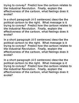 industrial revolution assessment
