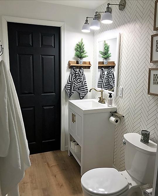Modern Wallpaper Ideas Small Bathroom Small Bathroom Renovations Guest Bathrooms