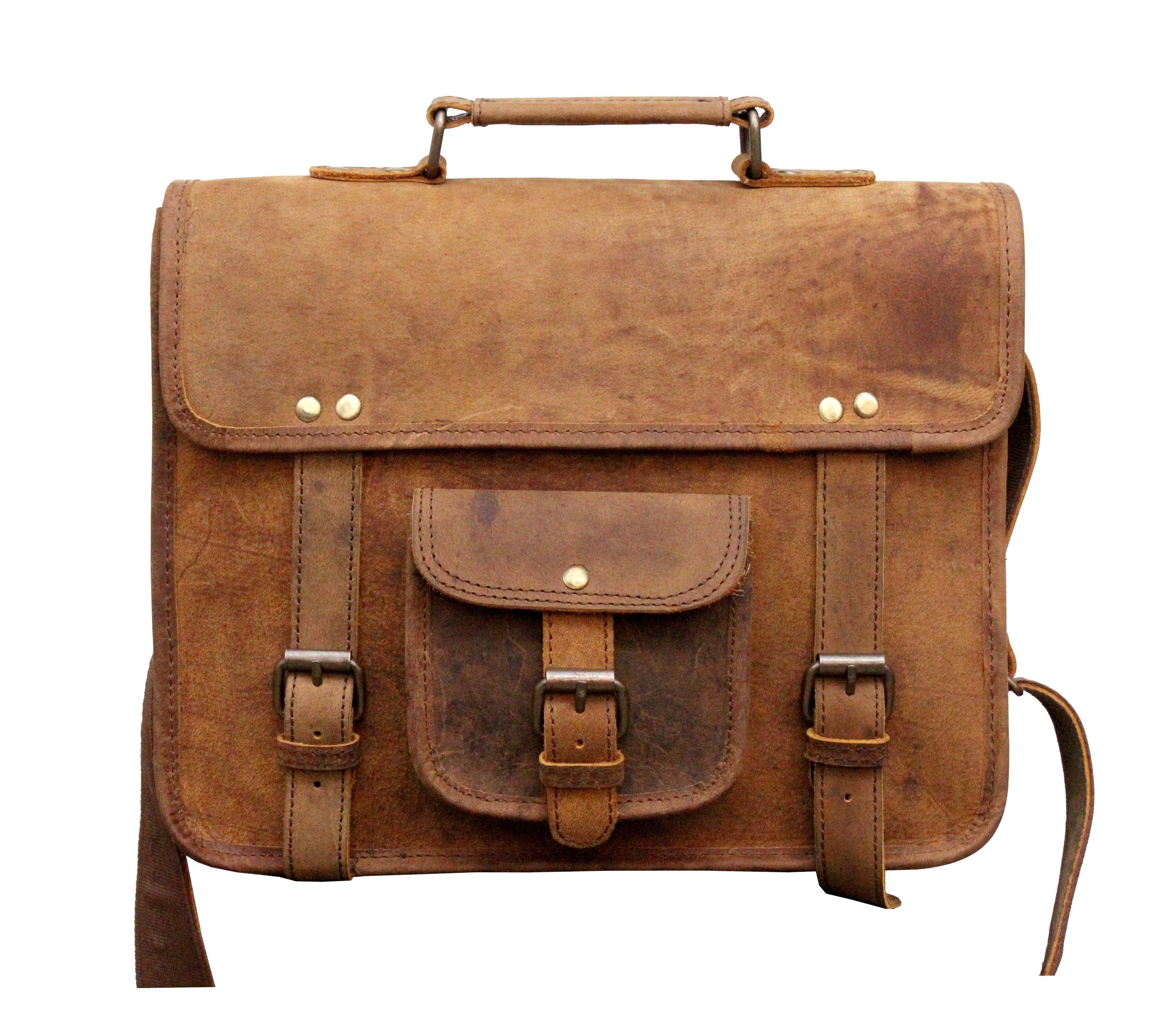IN-INDIA Buffalo Hunter Leather Cute Regular Use Messenger Satchel Bag-  Fits Laptop Upto 13.3 Inches 2fa9289946f96