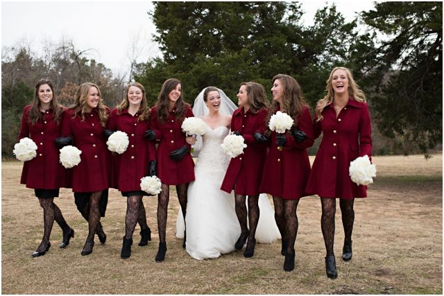 Winter Wedding Dress with Tights