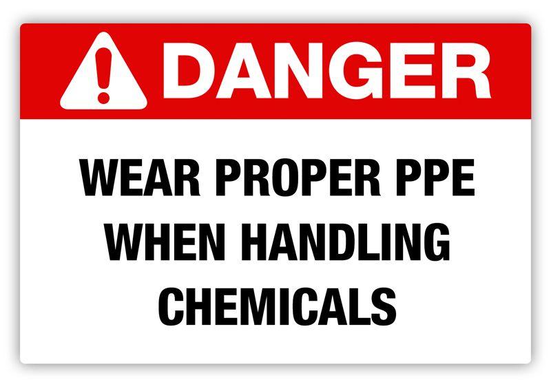 Creative Safety Supply Danger Proper Ppe Label 3 90 Http Www Creativesafetysupply Com Danger Proper Ppe Label Workplace Safety Dangerous Ppe
