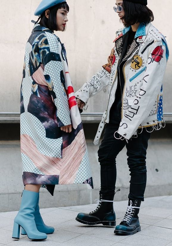 On the street at Seoul Fashion Week. Photographed by Alex Finch.