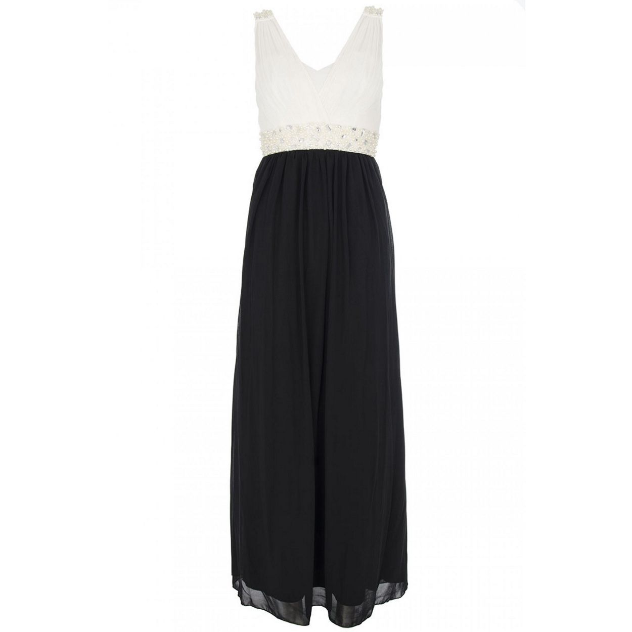 Quiz black chiffon pearl maxi dress at debenhams wedding