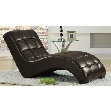 Chocolate Lounger Chaise from Emerald Home Furnishings