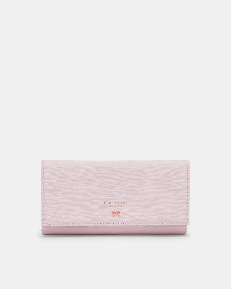aeffde418c9e4e Looped bow leather matinee purse - Dusky Pink