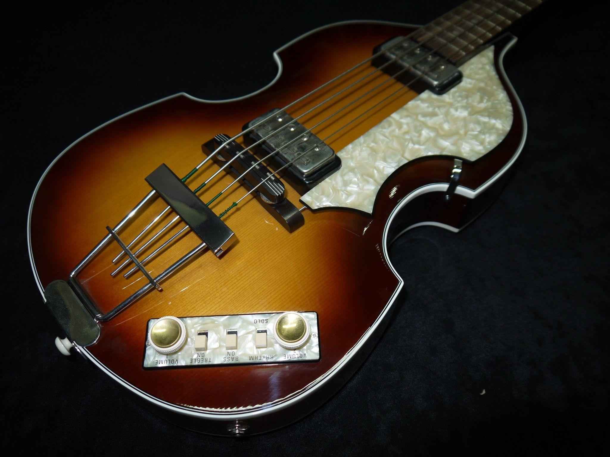 Hofner Violin Bass 1963 Reissue 2010 S Antique Brown Sunbrust Guitar For Sale Sound Affects Guitar Bass Guitars For Sale