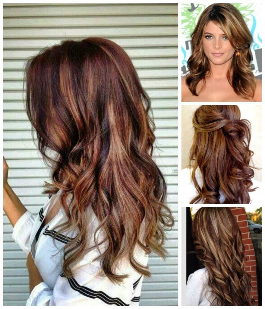 rich brown hair color blonde highlights | Hair Colour Your ...