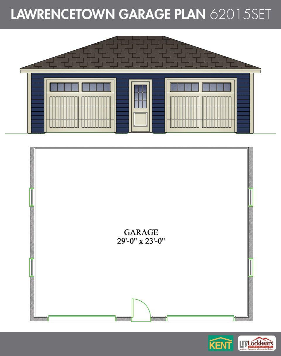 Lawrencetown Garage Plan. 30' x 24'. 2car garage