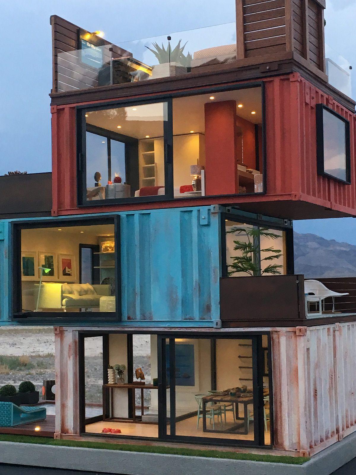 Casa de madrid a residence case study of cargotecture in - Casa con contenedores maritimos ...