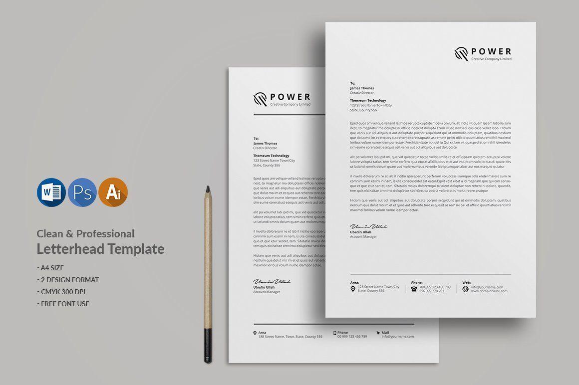 Letterhead Template Letterhead Template Professional Letterhead