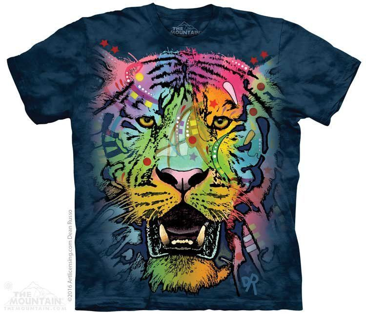 White Tiger Face NWT The Mountain 100/% Cotton Unisex Adult T-Shirt