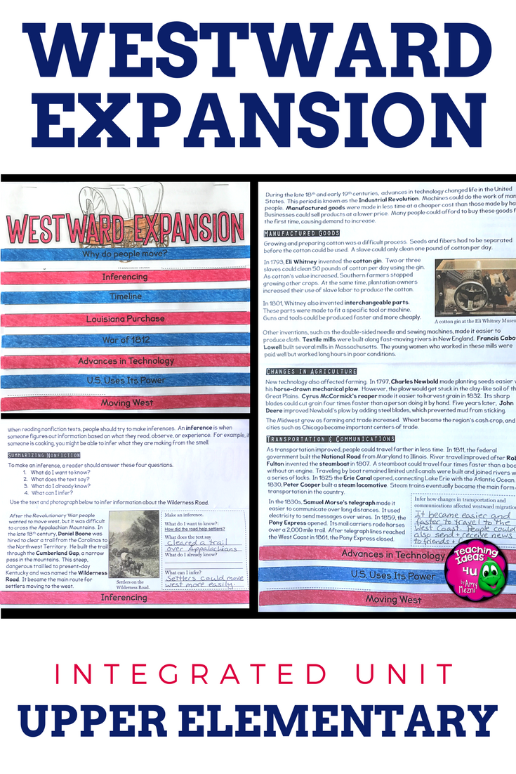 Westward Expansion: Informational Texts, Maps, & Activities Low Prep ...
