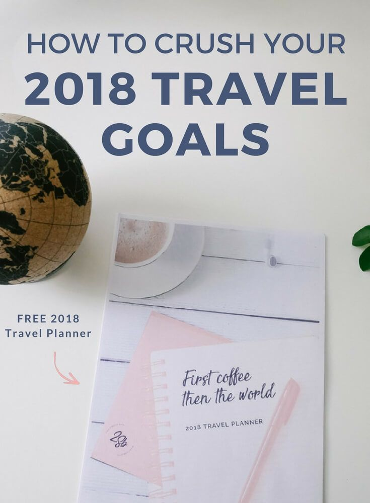 How to crush your travel goals in 2018 free planner travel how to crush your travel goals in 2018 free planner travel goals goal and travel planner gumiabroncs Image collections