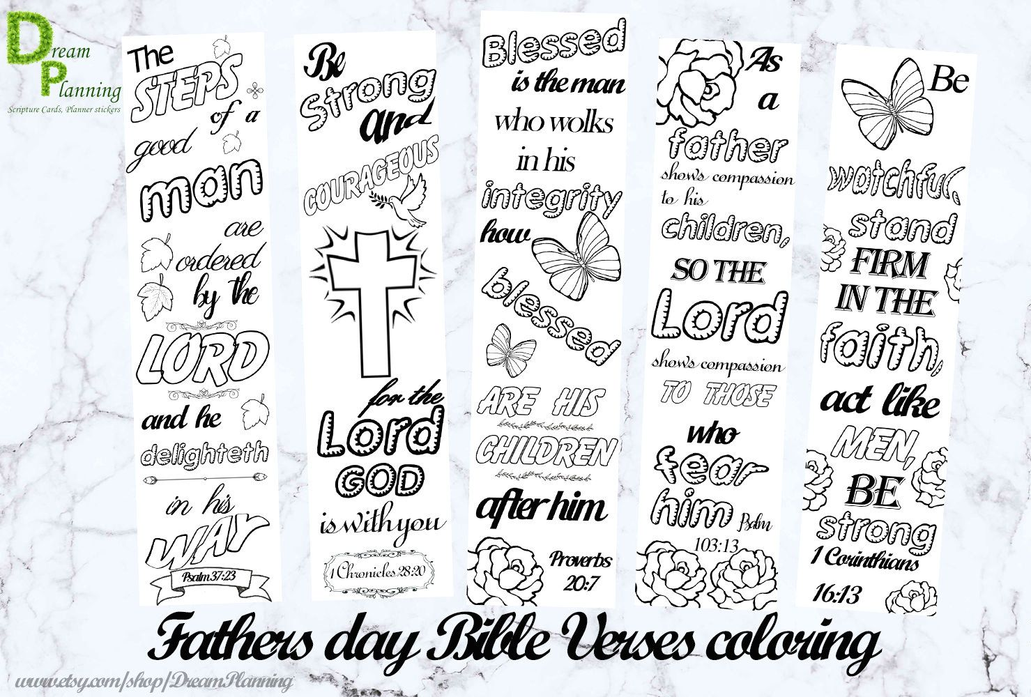 Christian Fathers Day Coloring Pages Coloring Bible Bookmarks Bible ...