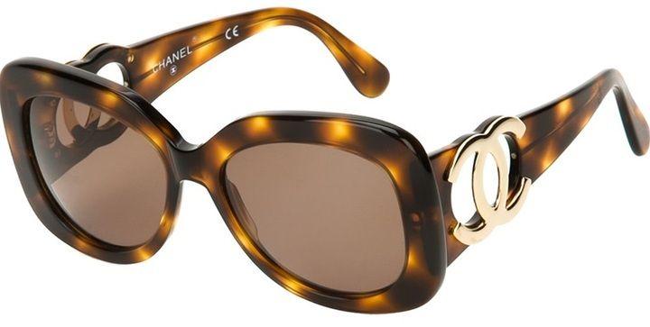 4a215d7e99 Chanel chunky Jackie-O sunglasses on shopstyle.com