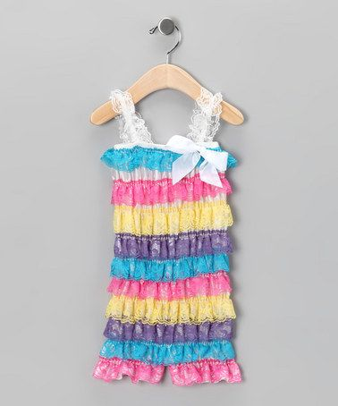 Take a look at this Goody Goody Gumdrops Ruffle Romper - Infant by Baby Lace Rompers on #zulily today!