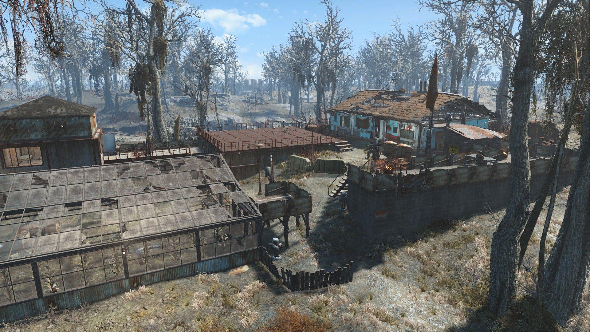 Greentop Nursery Brotherhood of Steel Outpost - No Mods #Fallout4