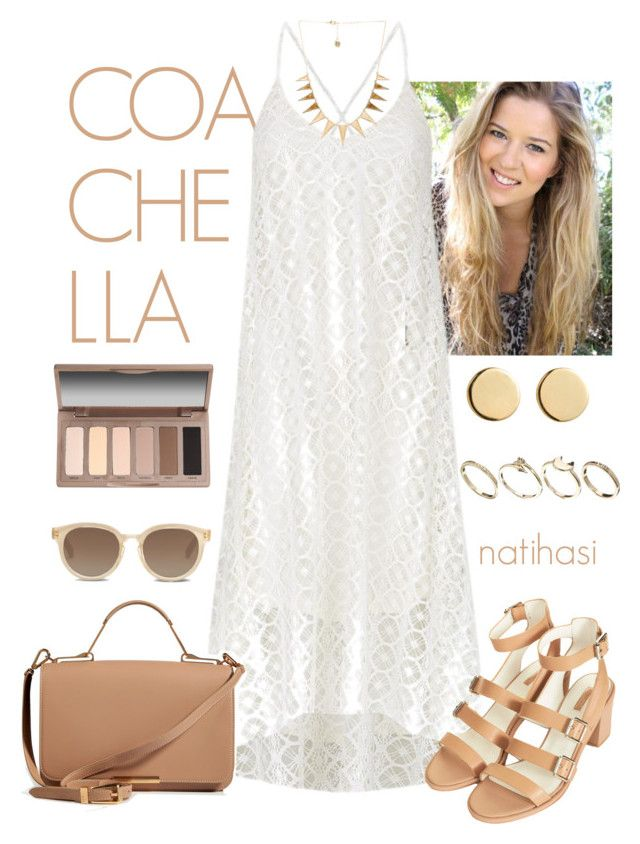 """""""Coachella Bohemian Spring Summer Outfit"""" by natihasi ❤ liked on Polyvore featuring T-Bags Los Angeles, Topshop, ASOS, Loren Stewart, Emilio Pucci, TOMS, Urban Decay and House of Harlow 1960"""