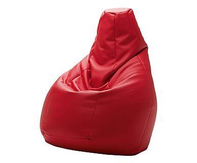 Poltrona anatomica sacco rosso cm passion pouf
