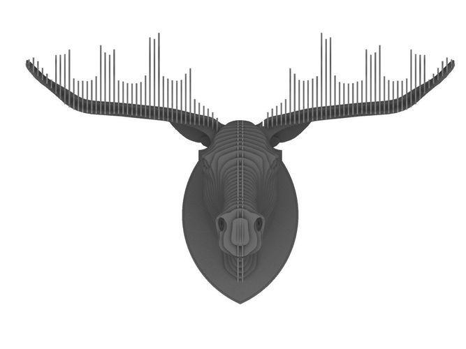 elk head 3d model max obj dxf 10