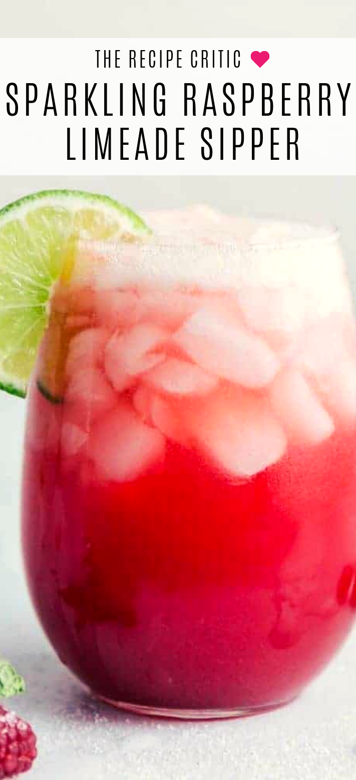 Raspberry Limemade Recipe #beverages